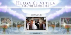 Németh Attila és Garami Helga esküvői weboldala