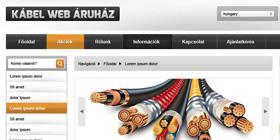 Kábel webáruház